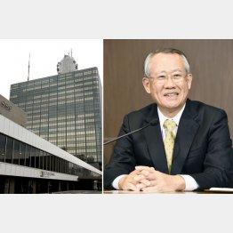 三菱商事出身の上田良一NHK会長(C)共同通信社