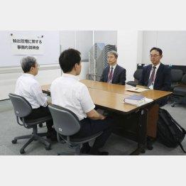 物別れに終わった事務レベル会合(7月12日)/(C)共同通信社