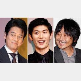 (左から)唐沢寿明、三浦春馬、大森南朋(C)日刊ゲンダイ