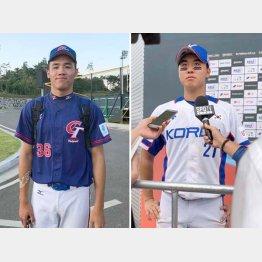 台湾の李晨薰と韓国のジャン・ジェヨウン(C)日刊ゲンダイ