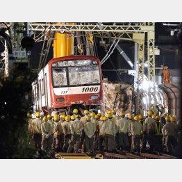 京急脱線事故はトラックを運転していた67歳の男性が死亡した(C)共同通信社