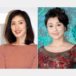 天海祐希(左)と藤原紀香(C)日刊ゲンダイ