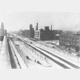 1936年に撮影された新京市(現在の長春市)。32年の「満州国建国」にともない、その国都とされ、新京特別市と改称、45年の満州国崩壊までこの名称で呼ばれた(C)共同通信社