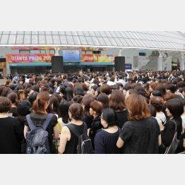 東京ドームでおこなわれた「ジャニー喜多川さんお別れの会」に多くのファンが集った/(C)日刊ゲンダイ