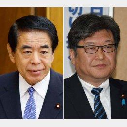 下村博文選対委員長と萩生田光一文科相(C)日刊ゲンダイ