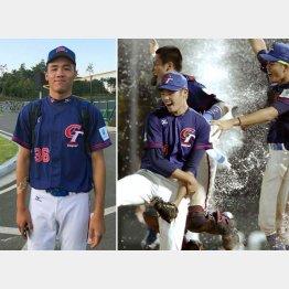 米国との決勝戦で胴上げ投手になった陳柏毓投手(右写真・左)と李晨薫投手(C)共同通信社