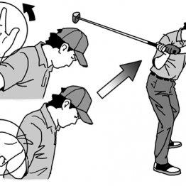 インサイドからクラブを下ろすポイントは右手首の「回外」