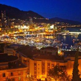 モナコ公国の夜景