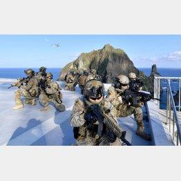 竹島で訓練する韓国軍(C)ロイター