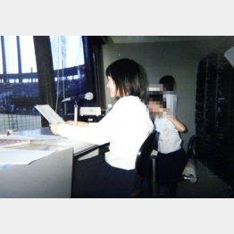 高校時代に甲子園大会予選のウグイス嬢を担当(提供写真)