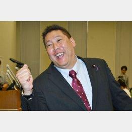 「NHKから国民を守る党」の立花孝志代表(C)日刊ゲンダイ