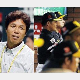 秋山幸二(左)と工藤監督(C)共同通信社