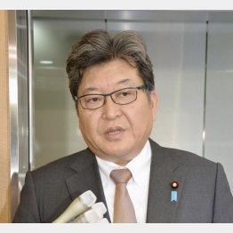 萩生田文科相は「検閲にはあたらない」と強調(C)共同通信社