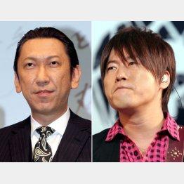 コブクロの小渕健太郎(右)と布袋寅泰(C)日刊ゲンダイ