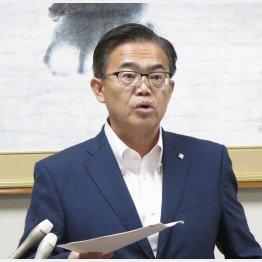 大村秀章愛知県知事は徹底抗戦の構え(C)共同通信社