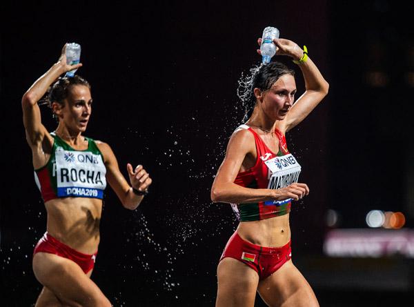 深夜なのに過酷を極めた(世界選手権初となる深夜レースとなった女子マラソン)(C)ロイター/Bildbyran