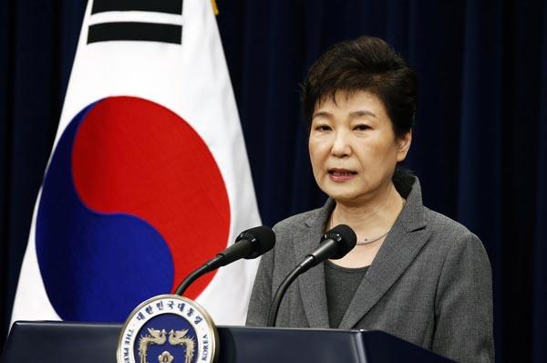 韓国の朴槿恵前大統領(C)共同通信社
