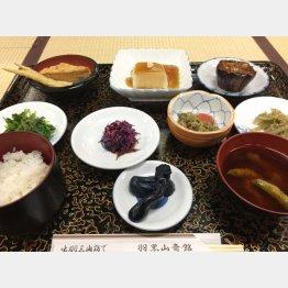 「羽黒山斎館」の伝統料理(C)日刊ゲンダイ
