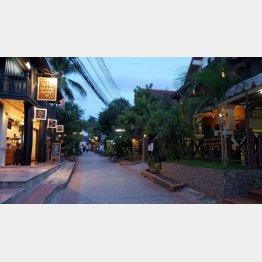 ラオスの首都・ビエンチャンの街並み(提供写真)