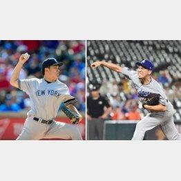 ヤンキースの田中将大とドジャースの前田健太(C)ロイター/USA TODAY Sports
