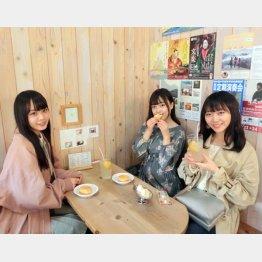 左から福田朱里、由良朱合、土路生優里(C)日刊ゲンダイ