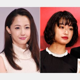 沢尻エリカ(左)と門脇麦(C)日刊ゲンダイ