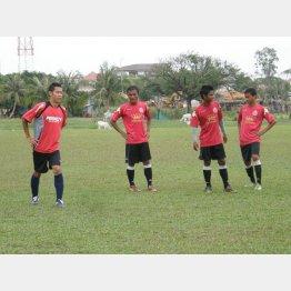 カンボジアで練習に参加(提供写真)