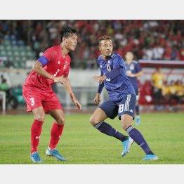 9月10日のW杯予選ミャンマー戦に出場したFW鈴木武蔵(C)Norio ROKUKAWA/office La Strada
