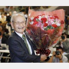 ノーベル化学賞を受賞した吉野彰氏(C)共同通信社