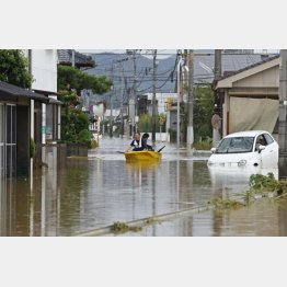 佐賀県は大雨による大規模水害に見舞われた(今年8月)/(C)共同通信社