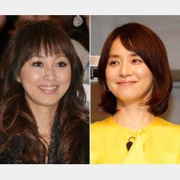 石田ゆり子(右)と渡辺美奈代(C)日刊ゲンダイ