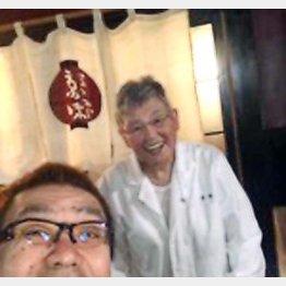 日本料理界の偉人、「京味」の西健一郎さんと(提供写真)