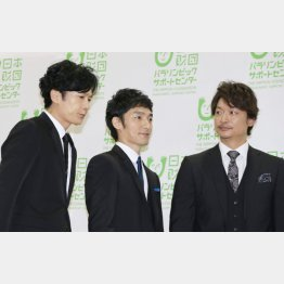 (左から)稲垣吾郎、草彅剛、香取慎吾(C)日刊ゲンダイ