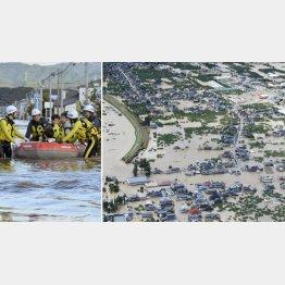 52の堤防が決壊、被害は拡大するばかり(C)共同通信社