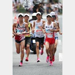 マラソン代表を決めるMGCは東京を走ったが(代表撮影)