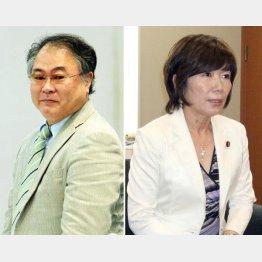 森ゆうこ議員(右)と高橋洋一氏(C)日刊ゲンダイ