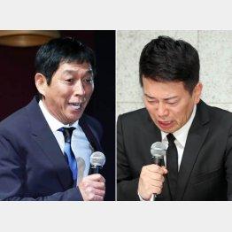 明石家さんま(左)と宮迫博之(C)日刊ゲンダイ