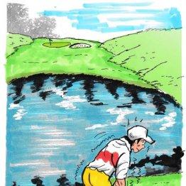 適正な距離ジャッジをして谷越え&池越えの不安をクリアに