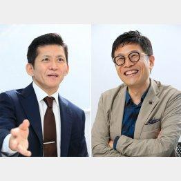 津田塾大学教授の萱野稔人さん(左)と名越康文さん(C)日刊ゲンダイ