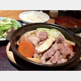 「松茸豚の松茸香蒸焼き」(C)日刊ゲンダイ
