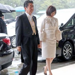 """安倍昭恵夫人の""""奇抜ドレス""""「即位礼正殿の儀」をブチ壊し"""