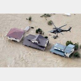 台風19号の被害は深刻(C)共同通信社