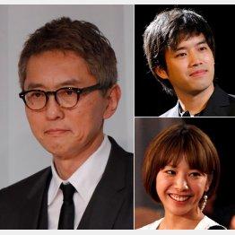 (左から時計回りで)松重豊、三浦貴大、夏帆(C)日刊ゲンダイ