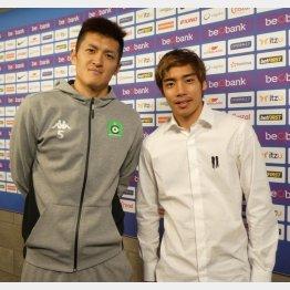 試合後に取材に応じてくれた植田直通(左)と伊東純也(写真)元川悦子