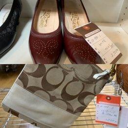バッグや靴などブランド品も豊富(C)日刊ゲンダイ