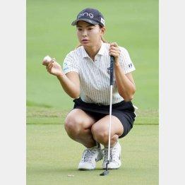 思うようなゴルフができなかった渋野(C)共同通信社
