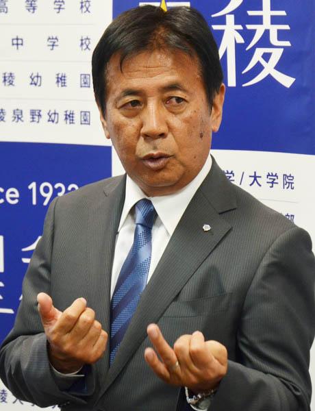 星稜・河崎護総監督兼副校長(C)共同通信社