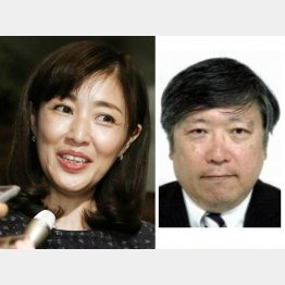 女優の菊池桃子と経産省の新原浩朗氏(C)共同通信社