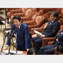 「責任は私に」を繰り返す安倍首相(C)日刊ゲンダイ