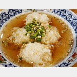 「カニシューマイ」はスープにつかってあっさり(C)日刊ゲンダイ